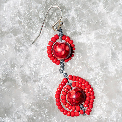 "Earring ""Red"""