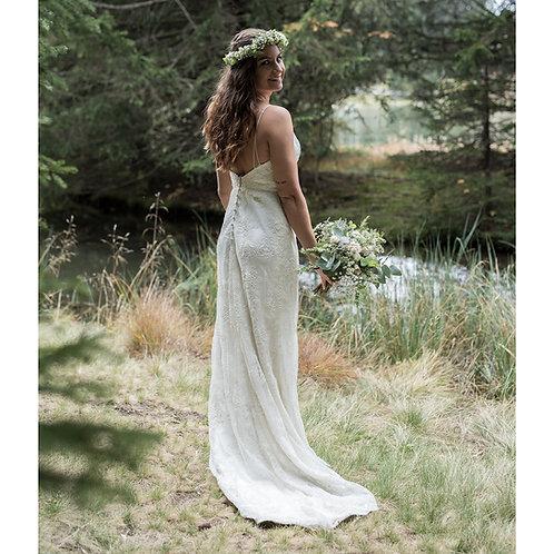 100% Spitzen- Brautkleid! Boho! aus Australien! Designerkleid!
