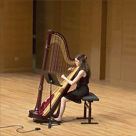 Contemporary Solo Harp Performance for Composer at UNT