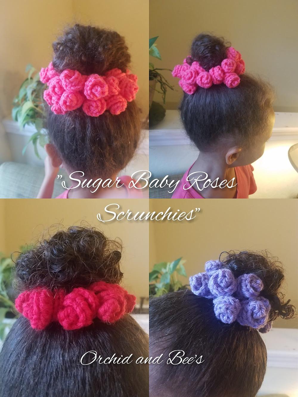 crochet scrunchie pattern sugar baby roses