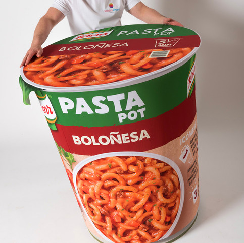 Oversized 3D Instant Meal Replica