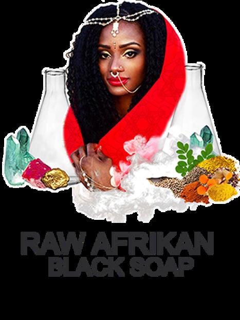 5 pack Raw Afrikan Black Soap