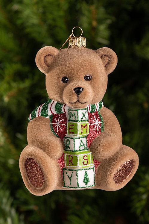 M292 Star and Tree Merry Christmas Bear