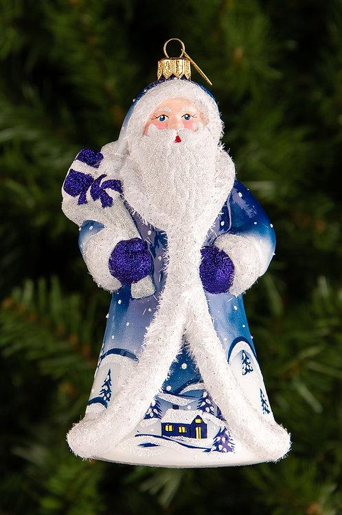 M294 Midnight Blue Winter Village Santa
