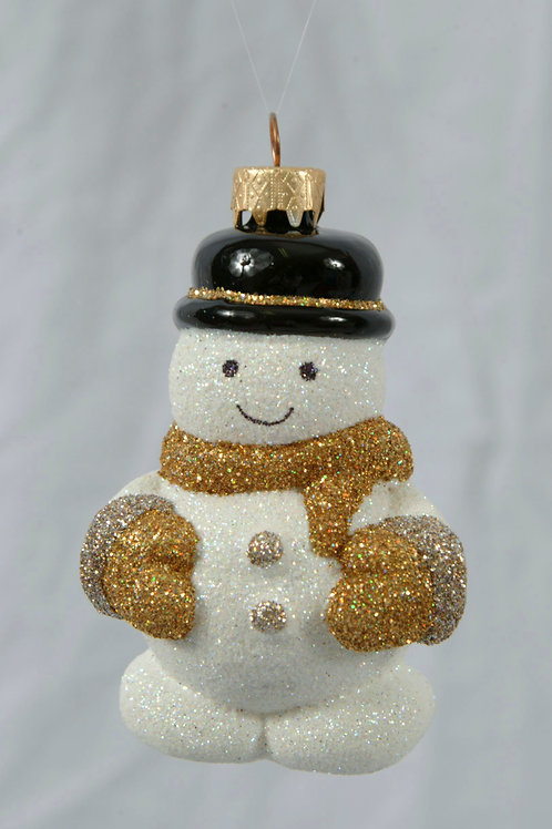 M84S Silver and Gold Snowman