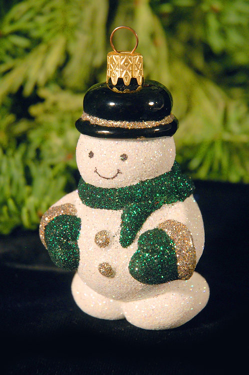 M84 Silver and Green Snowman