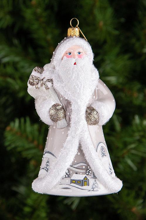 M294 Silver Winter Village Santa