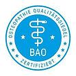 Siegel Qualität Osteopathie Bundesarbeitsgemeinschaft BAO