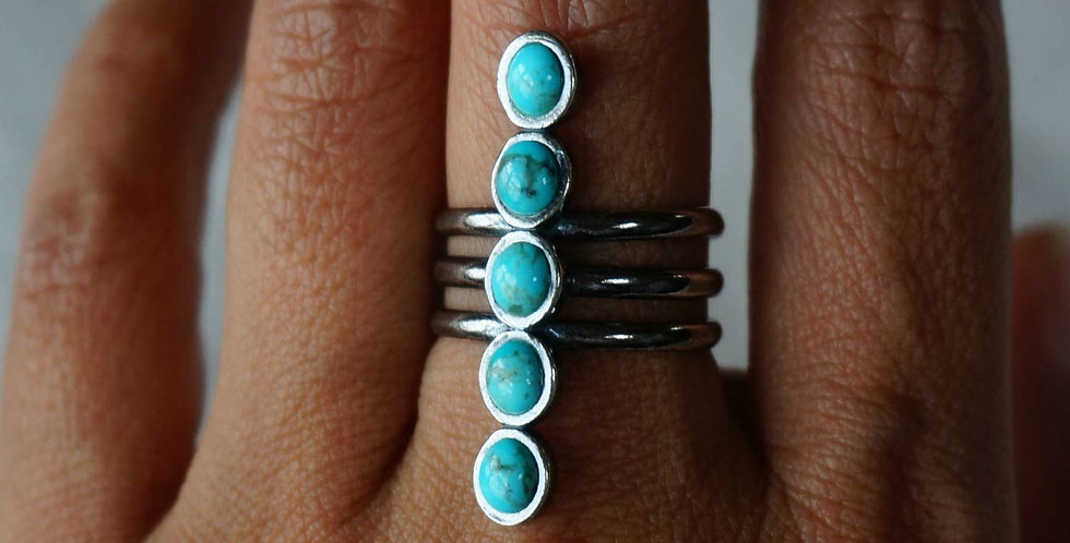 Kachada Turquoise Adjustable Ring