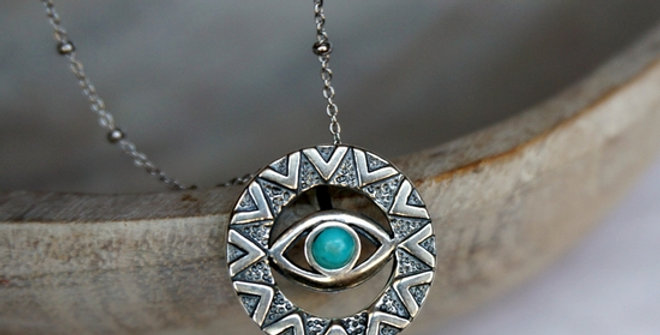 Evil Eye Turquoise Necklace