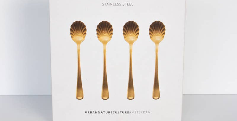 Stainless Spoon Fancy Gold Set of 4