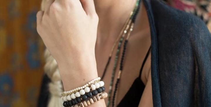 Stone Stacking Bracelet