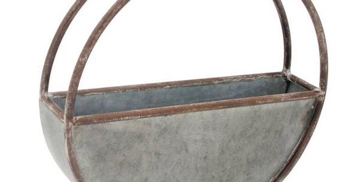 Round Metal Wall Pot