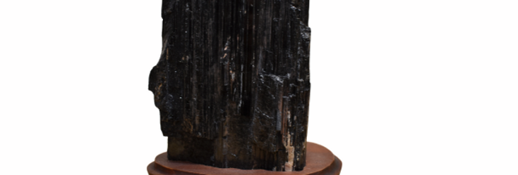 Black Tourmaline on Stand