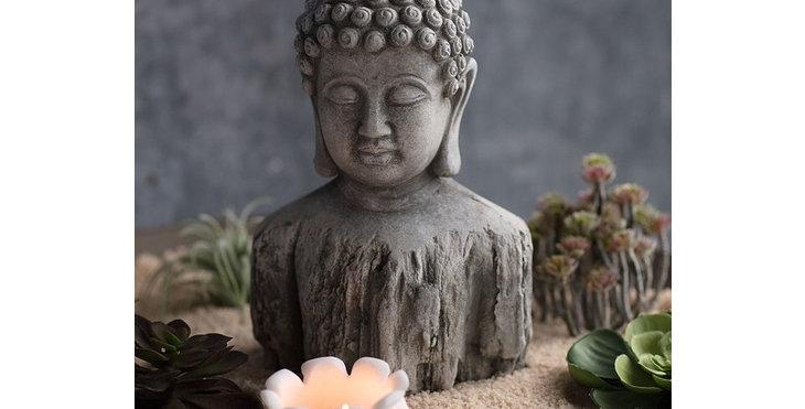 Cement Buddha Bust