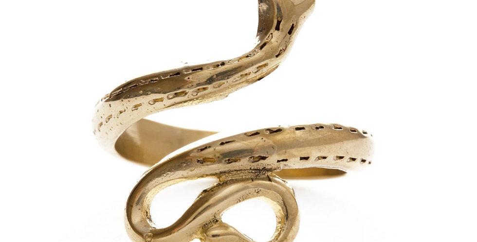 Golden Serpent Ring