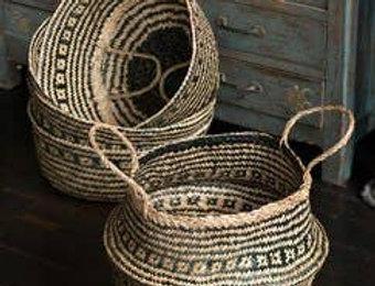 Handwoven Collapsible Storage Basket/Planter