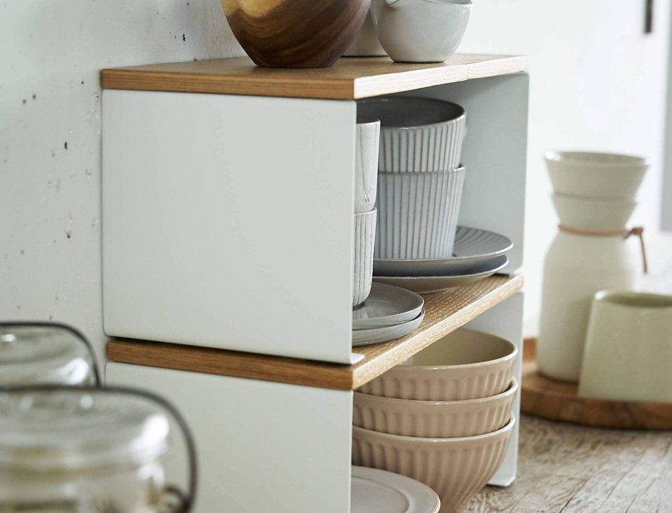 Wood -Top Stackable Kitchen Rack