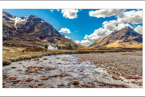 Little White Cottage at the banks of River Coe