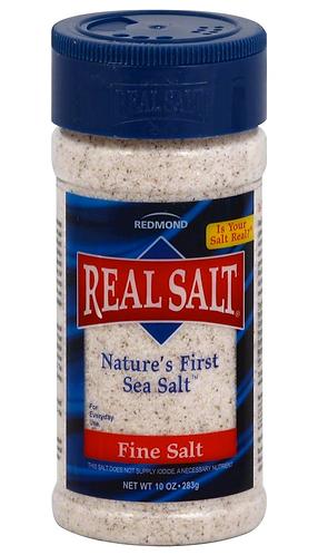 Real Sea Salt, 2-10oz. shakers or 1-26oz. bag