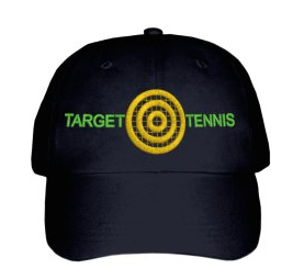 Embroidered Target Tennis Hat