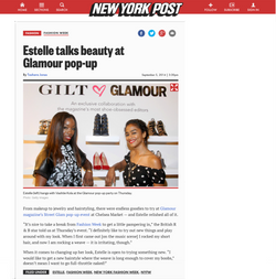 Estelle talks beauty at Glamour pop-up _