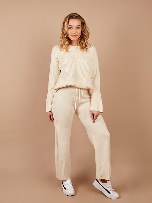 Special Knit Pant in Cream