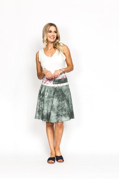 Sponge Print Skirt