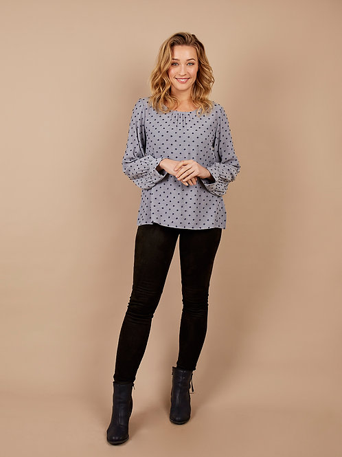 Polka Dot Blouse in Blue