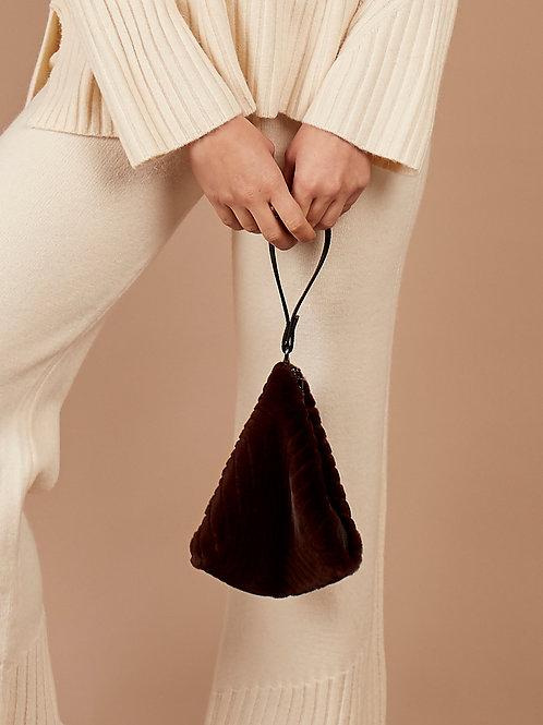 Faux Fur Bag in Chocolate