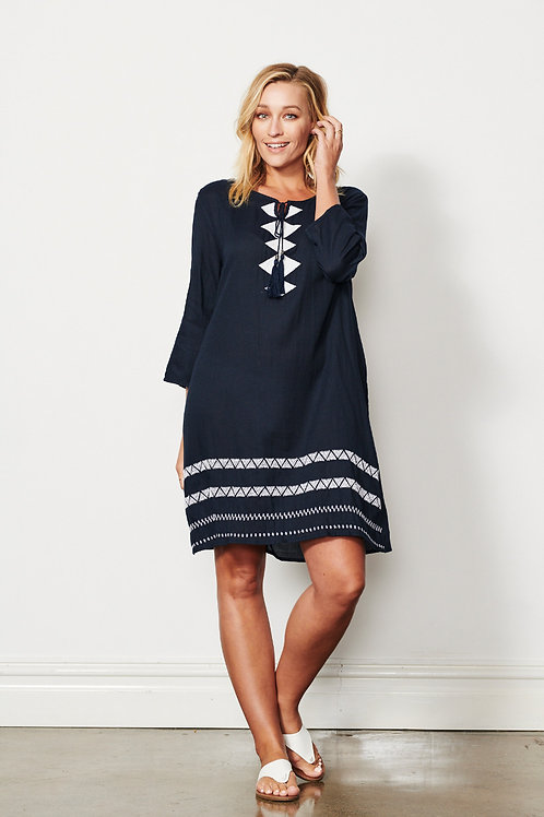 Double Embroidery Dress