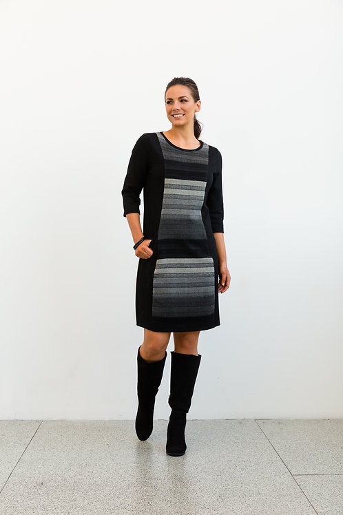 Gradient Stripe Dress