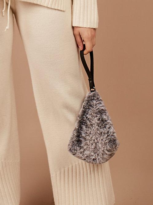 Faux Fur Bag in Grey