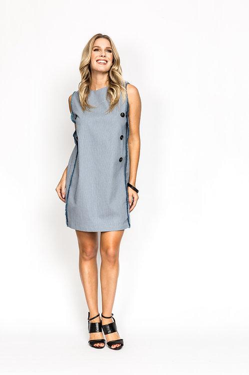 Frill Trim Shift Dress