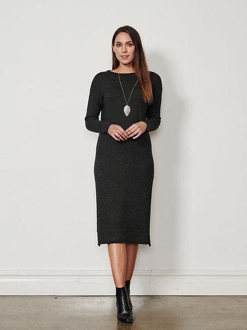 Knit Dress with Splits
