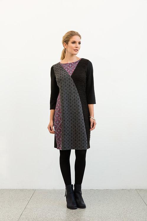 Panelled Print Dress