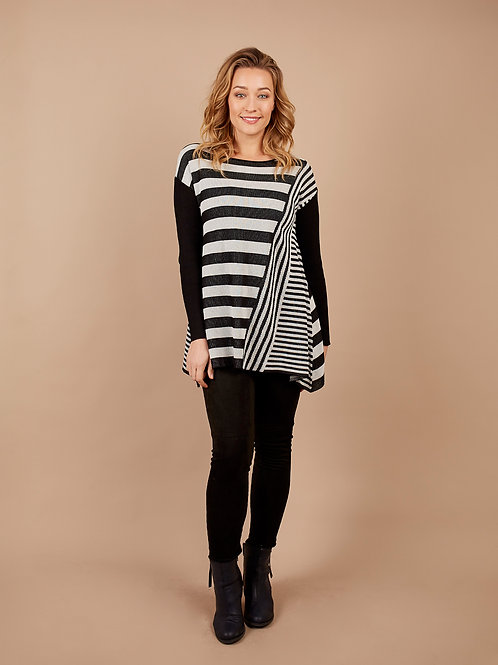 Striped Tunic in Black
