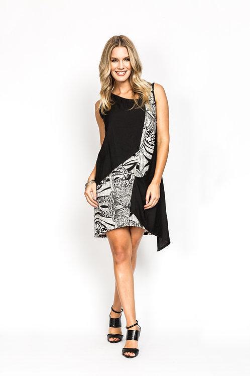 Print Panel Dress