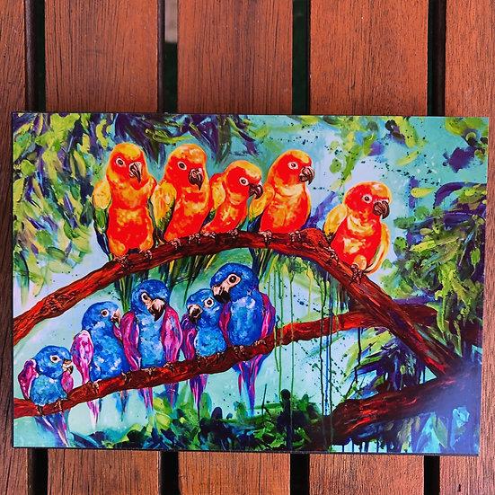 Parrot Talk - Block Print