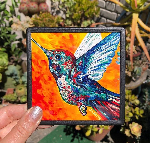 Orange Hummingbird - Magnet
