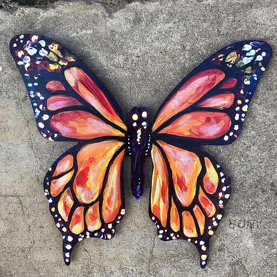 """Monarch Butterfly - Wood Hanger 12"""""""