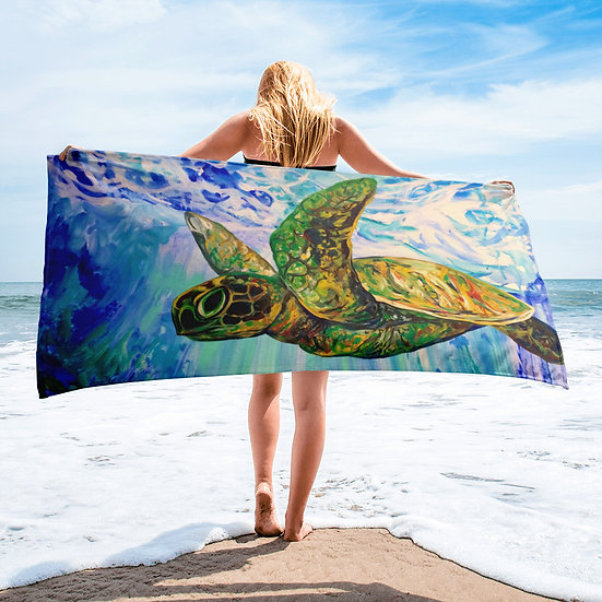 Flying Turtle - Towel