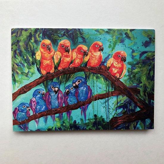 Parrot Talk - Greeting Card