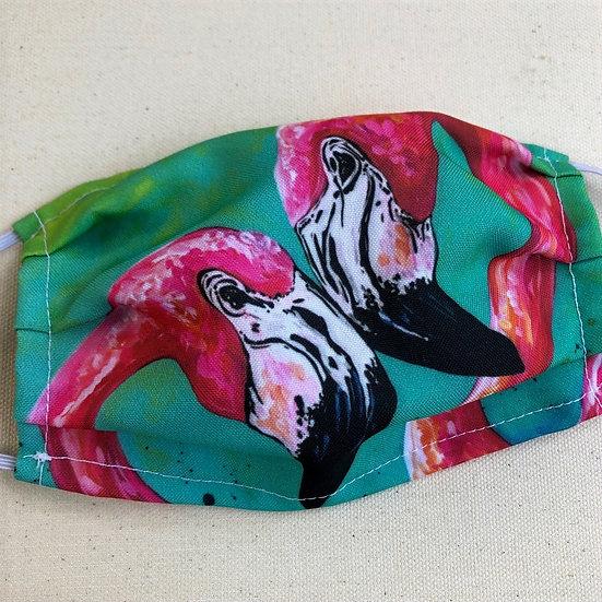 Pink Flamingos - Adult Mask
