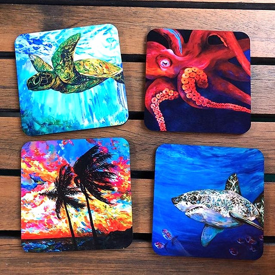 Ocean Blues - Coaster Set