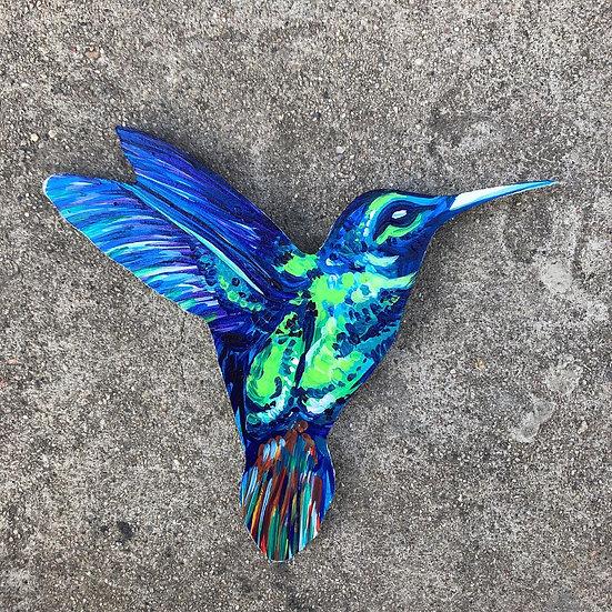 """Hummingbird - Wooden Hanger 6"""""""