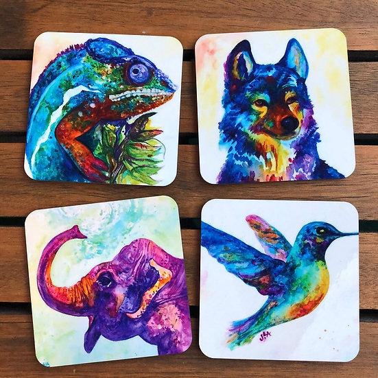 Watercolor Animals - Coaster Set