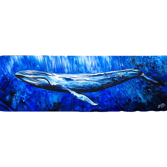Into the Blue - Original 12x24""