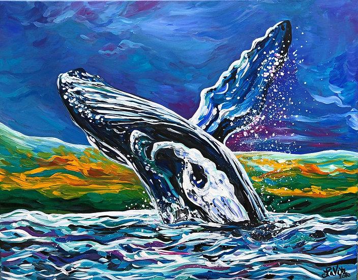 "Freedom Whale - Original 22x28"""