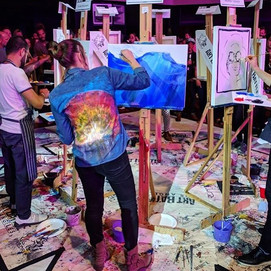 LIVE PAINTING tonight with the @nightowl